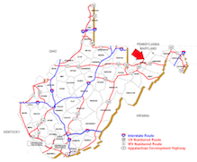 Image to illustrate the general location of Mineral County, WV.